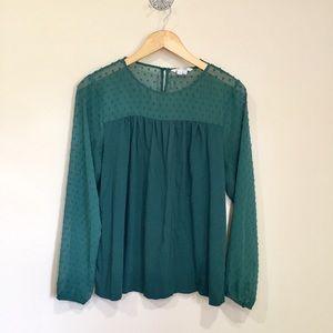 Boden green blouse